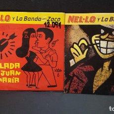 CDs de Música: NELO Y LA BANDA DEL ZOCO 2 CDS SINGLES CRAPULA + LA BALADA .. PEPETO. Lote 277647568