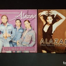 CDs de Música: ALAZAN 2 CDS SINGLE LOS LATIDOS DE CORAZON +VOUS VOULEZ DANCER PEPETO. Lote 277649218