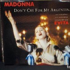 CDs de Música: CD SINGLE MADONNA - DON'T CRY FOR ME ARGENTINA - DE LA BANDA SONORA : EVITA - WEA,1996 PEPETO. Lote 277649623