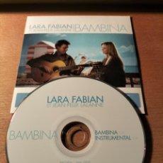 CDs de Música: RAR SINGLE CD. LARA FABIAN & JEAN-FÉLIX LALANNE. BAMBINA. ED. CARTÓN. 2 TRACKS. Lote 277673448