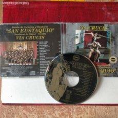 CDs de Música: CD SEMANA SANTA BANDA DE CORNETAS Y TAMBORES SAN EUSTAQUIO SANLUCAR LA MAYOR SEVILLA - DIFISILISIMO. Lote 277692648