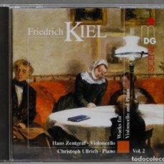 CD de Música: CD. KIEL. ZENTGRAF. WORKS FOR VIOLONCELLO AND PIANO. Lote 277722273
