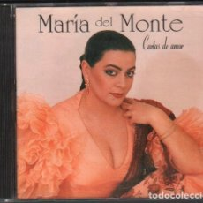 CDs de Música: MARIA DEL MONTE - CARTAS DE AMOR / CD ALBUM DE 1994 / MUY BUEN ESTADO RF-10355. Lote 277740273