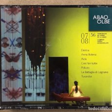 CDs de Musique: OLBE ABAO (56° TEMPORADA DE ÓPERA 2007/08). ELEKTRA, ANNA BOLENA, AIDA, COSÍ FAN FUTTE, POLIUTO,…. Lote 277748113