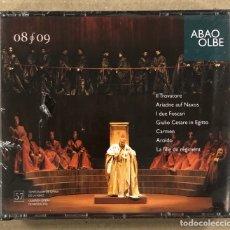 CDs de Musique: OLBE ABAO (57° TEMPORADA DE ÓPERA 2008/09). IL TROVATORE, ARIADNE AUF NAXOS, I DUE FOSCARI,…. Lote 277748563