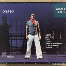 CDs de Musique: OLBE ABAO (58° TEMPORADA DE ÓPERA 2009/10). NORMA, BILLY BUD, FAUST, ERNANI, UN BALLO IN MASCHERA,... Lote 277750673