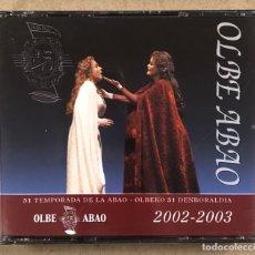 CDs de Musique: OLBE ABAO (51° TEMPORADA DE ÓPERA 2002/03). TURANDOT, WERTHER, NORMA, ALCINA, ZIGOR,…. Lote 277752323
