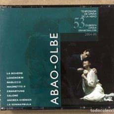 CDs de Musique: OLBE ABAO (53° TEMPORADA DE ÓPERA 2004/05). LA BOHÈME, LOHENGRIN, NABUCCO, MAOMETTO II,…. Lote 277752598