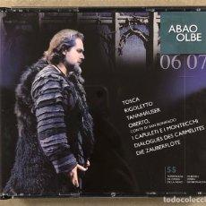CDs de Musique: OLBE ABAO (55° TEMPORADA DE ÓPERA 2006/07). TOSCA, RIGOLETTO, TANNHAUSER, OBERTO,…. Lote 277754628