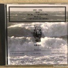 CDs de Musique: OLBE ABAO (32° TEMPORADA DE ÓPERA 1993/94). L'ELISIR D'AMORE, IL PIRATA, TRISTAN E ISOLDA,…. Lote 277755953