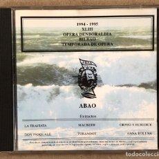 CDs de Musique: OLBE ABAO (33° TEMPORADA DE ÓPERA 1994/95). LA TRAVIATA, MACBETH, ORFEO Y EURIDICE,…. Lote 277756428