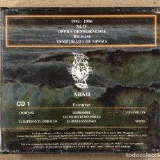 CDs de Musique: OLBE ABAO (44° TEMPORADA DE ÓPERA 1995/96). I PURITANI, EL RAPTO EN EL SERRALLO, NORMA,…. Lote 277757028