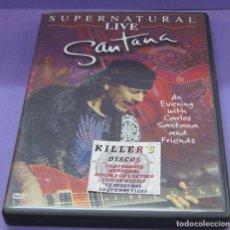 CDs de Música: SANTANA - SUPERNATURAL LIVE - DVD. Lote 133837438