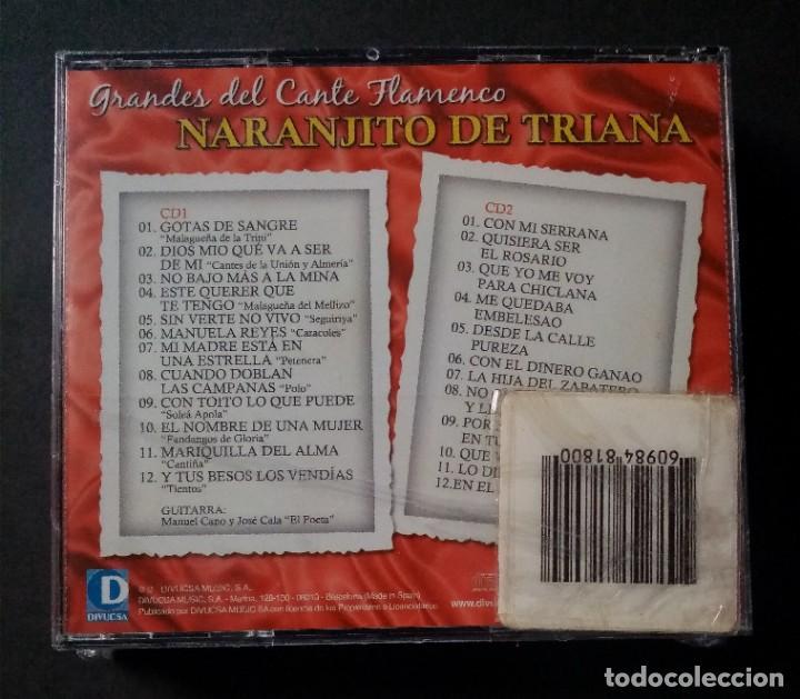 CDs de Música: NARANJITO DE TRIANA - Grandes Del Cante Flamenco - 2xCD´s 2007 - DIVUCSA (Nuevo / Precintado) - Foto 2 - 277761738