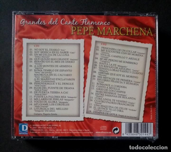CDs de Música: PEPE MARCHENA - Grandes Del Cante Flamenco - 2xCD´s 2007 - DIVUCSA (Nuevo / Precintado) - Foto 2 - 277762383