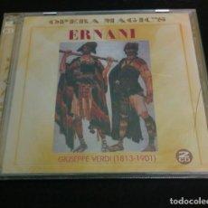 "CDs de Música: VERDI ""ERNANI"" GINO PENNO. CATERINA MANCINI. EN VIVO, ROMA. (2CDS). Lote 277827803"