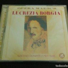 "CDs de Música: DONIZETTI. ""LUCREZIA BORGIA"" MONTSERRAT CABALLÉ. GIANNI RAIMONDI. EN VIVO, MILÁN 1970. (2CDS). Lote 277829738"