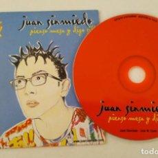 CDs de Música: JUAN SINMIEDO 'PIENSO MESA Y DIGO SILLA' CD SINGLE PROMO 1999 GLORIA FUERTES JOSÉ MARÍA CANO MECANO. Lote 278216723