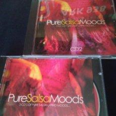 CDs de Música: PURE SALSA MOODS. DOBLE CD. ESTADO PERFECTO. Lote 278285433
