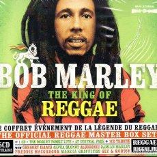 CDs de Música: BOB MARLEY – THE KING OF REGGAE 5 X CD, COMPILATION. Lote 278423518
