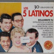CDs de Música: 2 CD. LOS 5 LATINOS. 30 GRANDES DE LOS 5 LATINOS. Lote 278423578