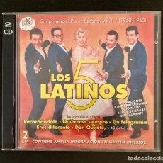 CDs de Música: LOS 5 LATINOS - DOBLE CD - RAMS LAMA. Lote 278531608