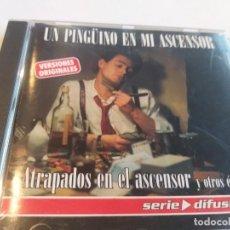 CDs de Música: UN PINGÚINO EN MI ASCENSOR - ATRAPADOS EN EL ASCENSOR Y OTROS ÉXITOS. Lote 278545493