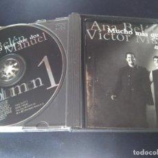 CDs de Música: VCTOR MANUEL ANA BELEN. MUCHO MAS QUE DOS. DOBLE CD MBE. Lote 278594543