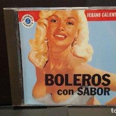 CDs de Música: CD VERANO CALIENTE Nº 1 - BOLEROS CON SABOR, POR ORQUESTA LOS SONEROS DEL CALLAO. CAMBIO 16 PEPETO. Lote 278611573
