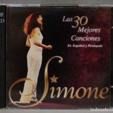 CDs de Música: 2 CD. SIMONE. LAS 30 MEJORES CANCIONES EN ESPAÑOL Y PORTUGUES. Lote 278623553