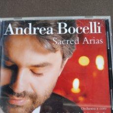 """CDs de Música: CD ANDREA BOCELLI """" SACRED ARIAS """". Lote 278624853"""