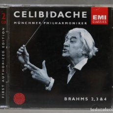 CDs de Música: CD. BRAHMS 2,3 & 4. CELIBIDACHE. Lote 278624868