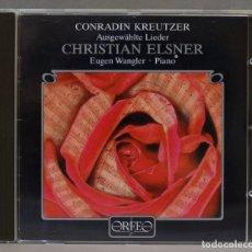 CDs de Música: CD. KREUTZER. LIEDER. ELSNER. Lote 278625003