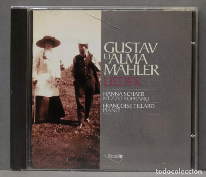 CD. GUSTAV ET ALMA MAHLER. LIEDER. SCHAER. TILLIARD (Música - CD's Clásica, Ópera, Zarzuela y Marchas)