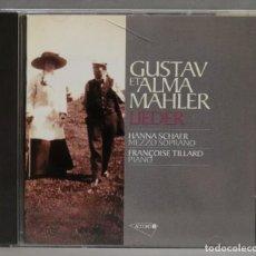 CDs de Música: CD. GUSTAV ET ALMA MAHLER. LIEDER. SCHAER. TILLIARD. Lote 278625103
