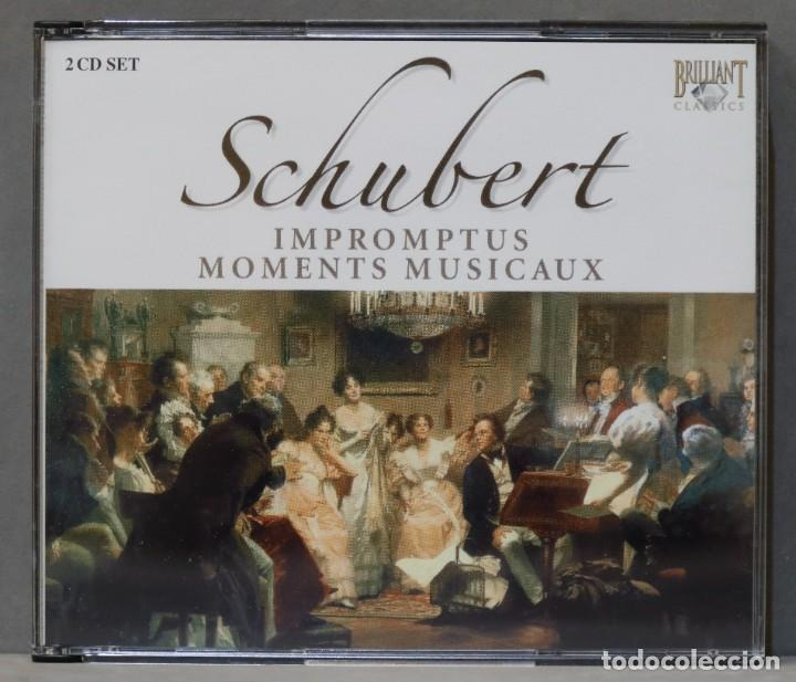 2 CD. SCHUBERT. MOMENTS MUSICAUX (Música - CD's Clásica, Ópera, Zarzuela y Marchas)