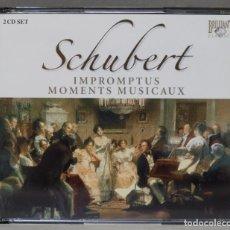 CDs de Música: 2 CD. SCHUBERT. MOMENTS MUSICAUX. Lote 278625173