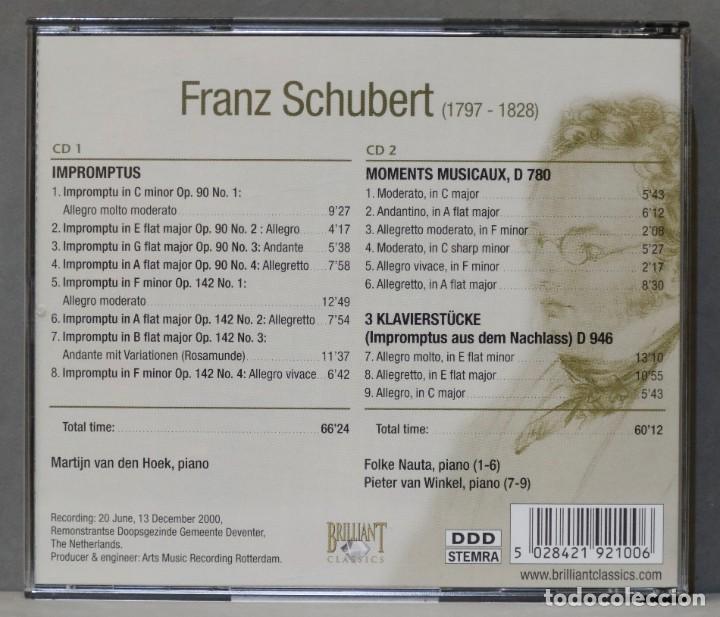 CDs de Música: 2 CD. SCHUBERT. MOMENTS MUSICAUX - Foto 2 - 278625173