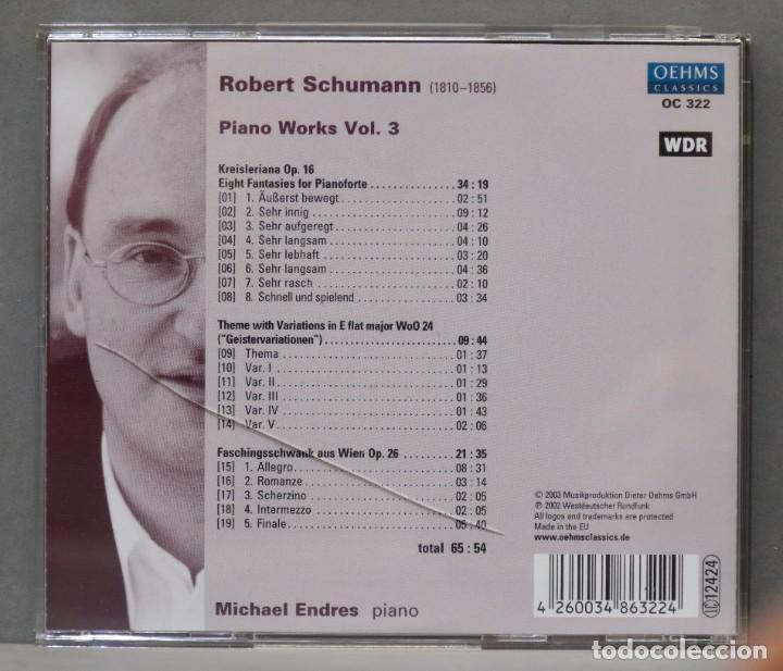 CDs de Música: CD. Piano Works Vol. 3. ENDRES. SCHUMANN - Foto 2 - 278625323
