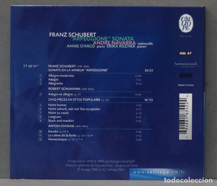 "CDs de Música: CD. Schubert. ""Arpeggione"" Sonata. NAVARRA - Foto 2 - 278625483"