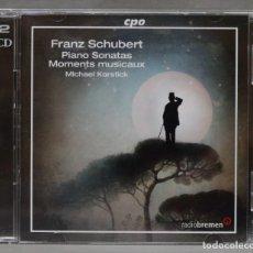 CDs de Música: 2 CD. SCHUBERT. PIANO SONATAS. MOMENTS MUSICAUX. KORSTICK. Lote 278625603