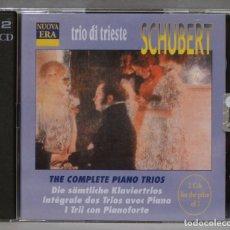 CDs de Música: 2 CD. SCHUBERT. COMPLETE PIANO TRIOS. TRIO DE TRIESTE. Lote 278625723