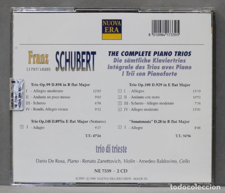 CDs de Música: 2 CD. SCHUBERT. COMPLETE PIANO TRIOS. TRIO DE TRIESTE - Foto 2 - 278625723