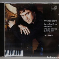 CDs de Música: CD. LES DERNIÈRES SONATES. THE LAST SONATAS D.959 & 960. SCHUBERT. LEWIS. Lote 278625803