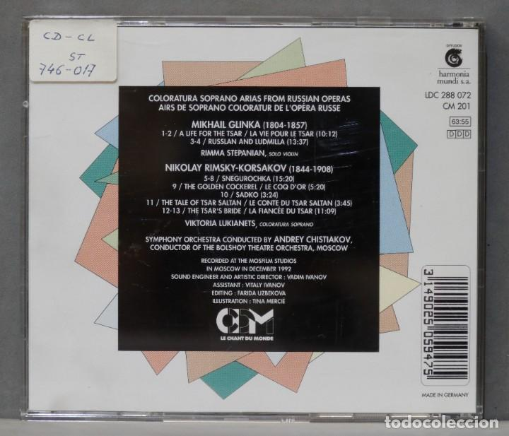 CDs de Música: CD. Coloratura Soprano Arias. GLINKA. RIMSKY-KORSAKOV - Foto 2 - 278625898
