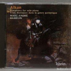 CDs de Música: CD. SYMPHONY FOR SOLO PIANO. TROIS MORCEAUX DANS LE GENRE PATHÉTIQUE. ALKAN. Lote 278626028