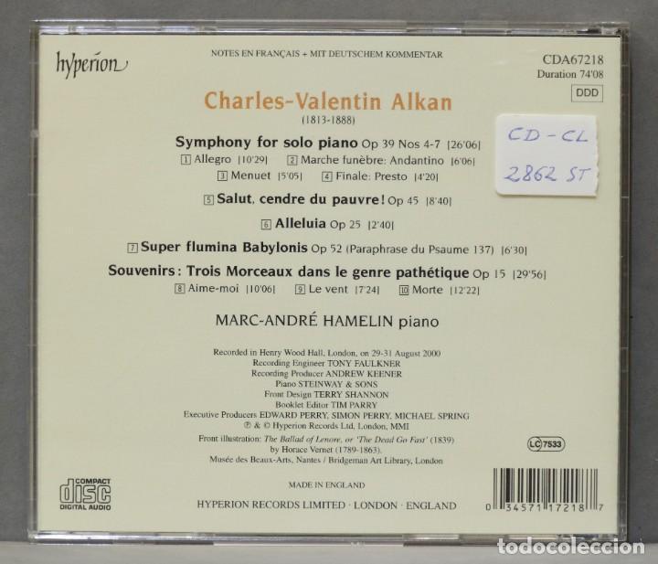 CDs de Música: CD. Symphony For Solo Piano. Trois Morceaux Dans Le Genre Pathétique. ALKAN - Foto 2 - 278626028