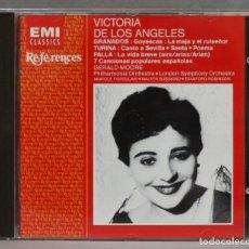 CDs de Música: CD. FALLA. GRANADOS. TURINA. VICTORIA DE LOS ANGELES. Lote 278626088