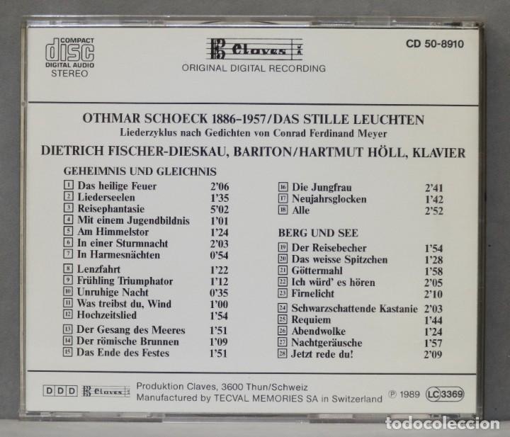 CDs de Música: CD. Das Stille Leuchten. SCHOECK - Foto 2 - 278626233