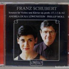 CDs de Música: CD. SCHUBERT. VIOLIN SONATAS. LÖWENSTEIN. PHILLIP MOLL. Lote 278626483